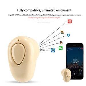 Image 2 - Миниатюрные беспроводные Bluetooth наушники, спортивные наушники вкладыши с микрофоном, гарнитура для режима «свободные руки», наушники для телефона 11, Samsung, Huawei, Android