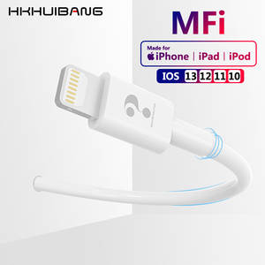 HKHUIBANG Original MFI USB Cable For iPhone 11 X Xs Max XR 8 7 6 2.4A Fast Charging Data Cable For iPad iPod USB Charge Cord