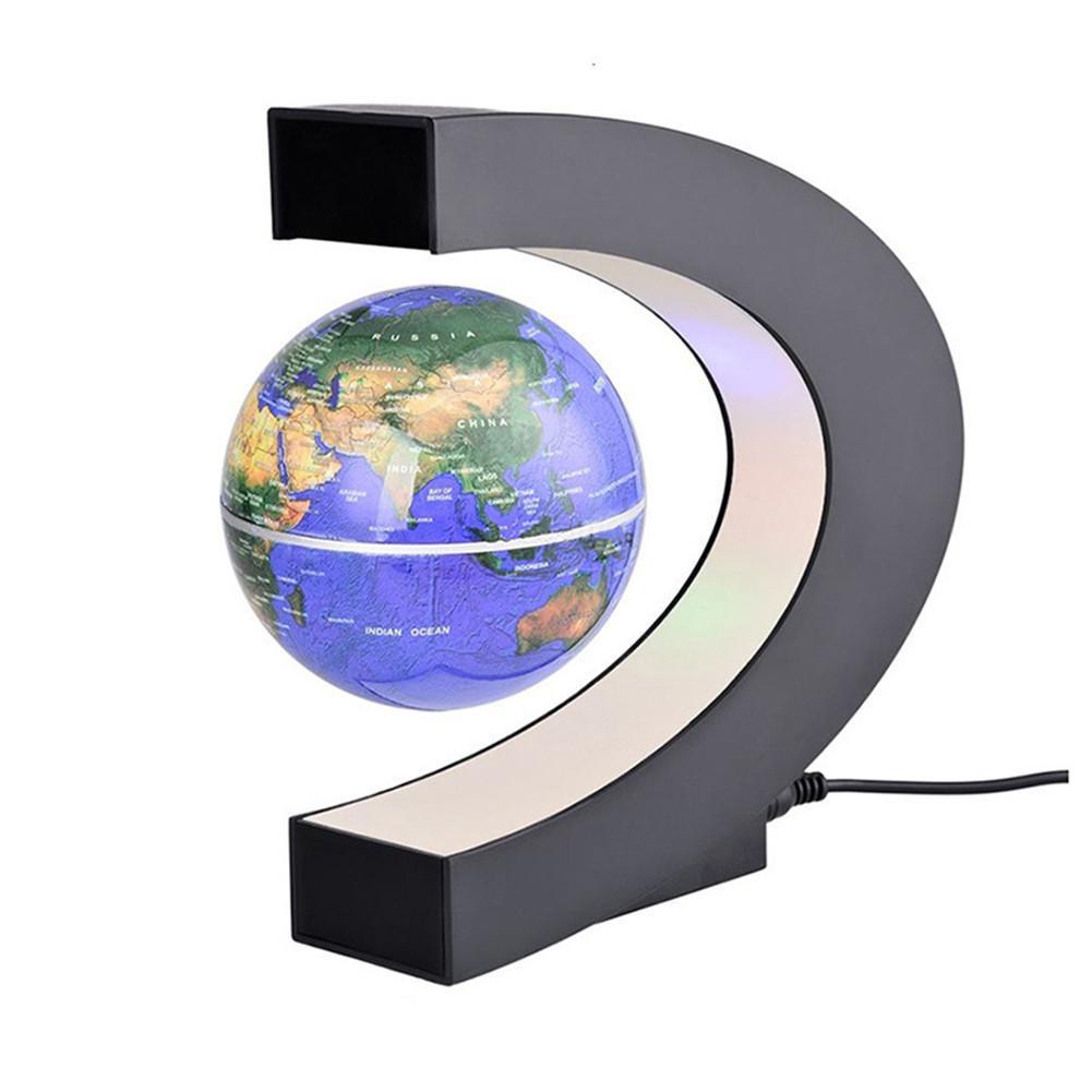 Kuulee LED Electronic Magnetic Levitation Floating Globe Antigravity LED Night Light Home Decor Novelty Gift