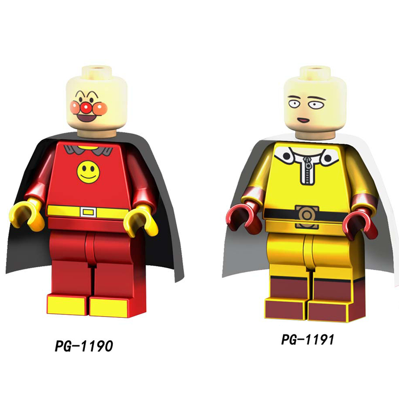 Single Avengers Zombie ONE PUNCH-MAN Anpanman Cyclops Omino Snake Undead super heroes building block toys for children image