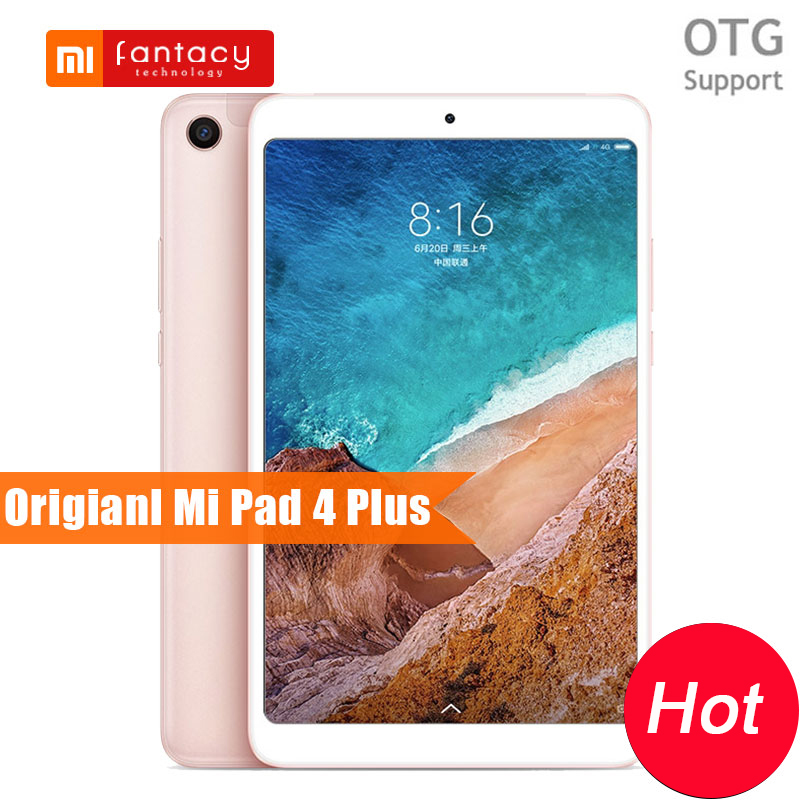 Original Xiaomi Mi Pad 4 Plus Snapdragon 660 AIE 4G LTE 64GB 8620mAh 1920x1200 FHD 10.1'' Screen Tablet MiPad 4Plus FaceID