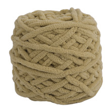 DIY Scarf Sweater Towel Thick Yarn 95g 7mm Diameter Knitting Chunky Towelling Yarn Ball Khaki Color(China)