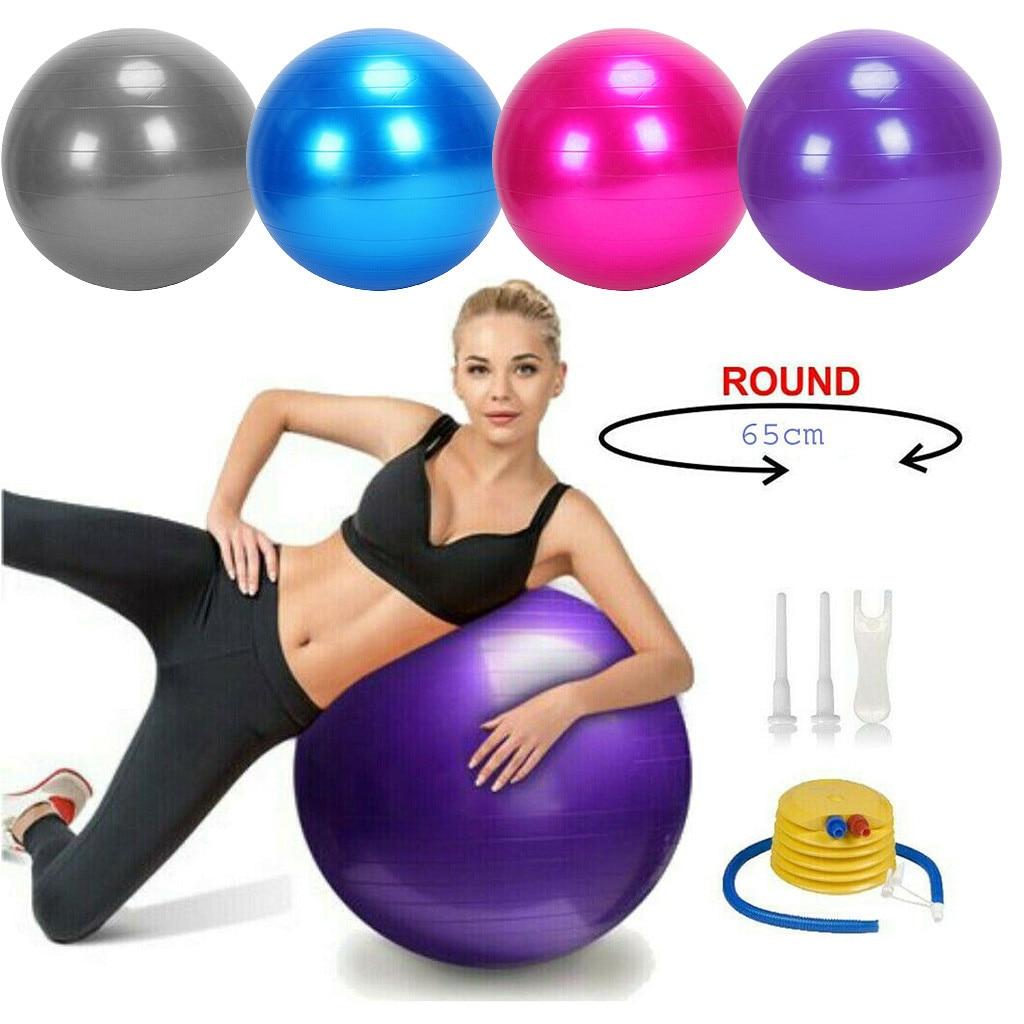 65cm Exercise Gym Ball Fitness Core Pregnancy Birthing Anti Burst Sports Yoga Balls Fitness Gym Balance Workout Training Ball#gh