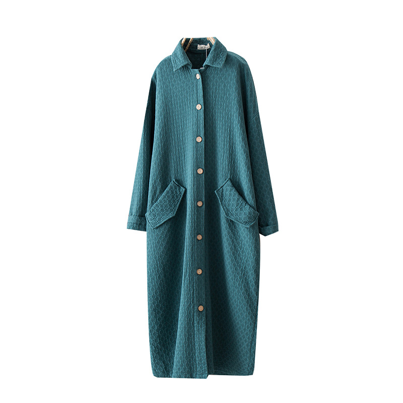 Autumn 2019 Loose Cotton Linen   Trench   Coat Long Loose Single Breasted   Trench   Coat for Women.