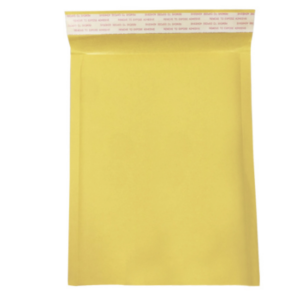 10 Pack Self Seal Moistureproof Yellow Bubble Padded Mailing Anti-pressure Envelopes Bag Paper Packaging image