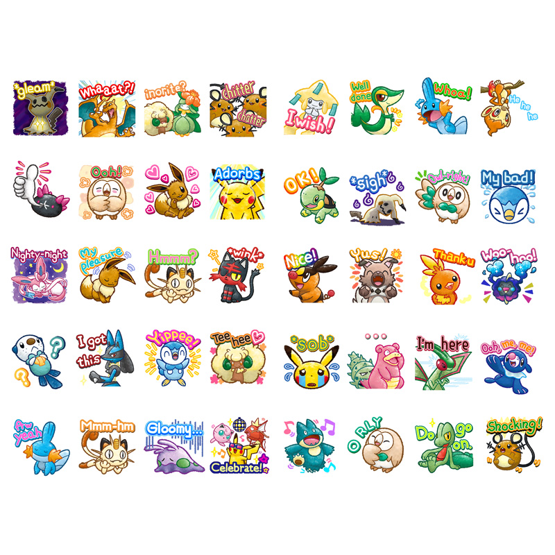 1 PCS Kawaii Japan Anime Pokemon Paper Sticker Stationery Scrapbooking Laptop Label Office Post Bullet Journal Art Supplies(China)