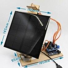 Toy-Parts STEM Power-Generation-Project Mobile-Phone Smart-Solar-Tracker Arduino-Program