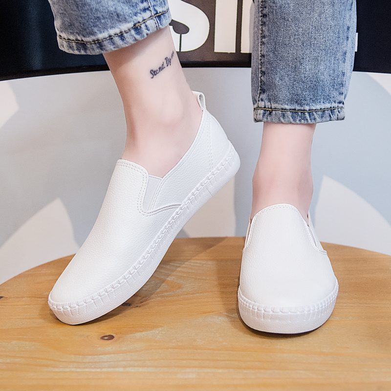 Women Shoes Flats Summer Autumn New Fashion Casual Flats Solid Breathable Simple Women Casual White Leather Sneakers Women