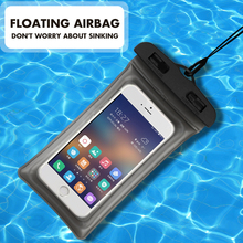 Универсальная 6,3 дюймовая подушка безопасности плавающая сумка для плавания водонепроницаемая сумка для телефона с сенсорным экраном подводный чехол для телефона для iphone 8 8s
