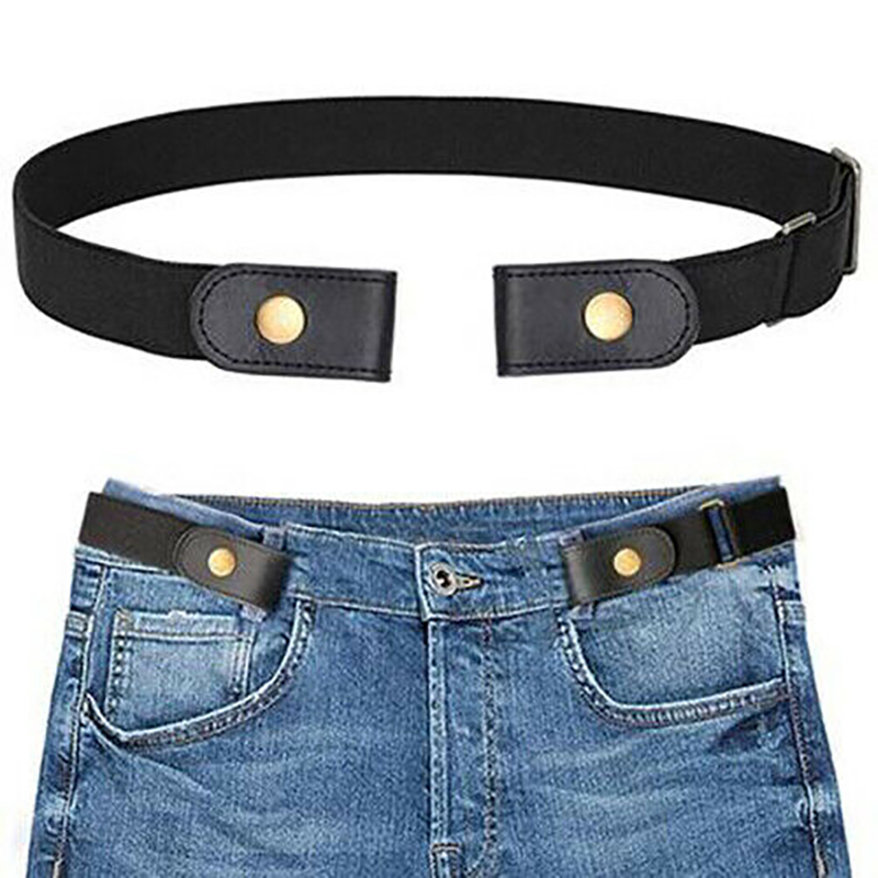 Elastic Belt Buckle-Free Adjustable Invisible Waist Belt Waistband For Jeans
