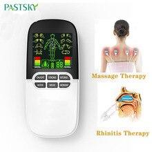 2 в 1 Лечение ринитом акупунктурный стимулятор носа синусит аллергия лазерная терапия Электрический массажер с электродными подушечками