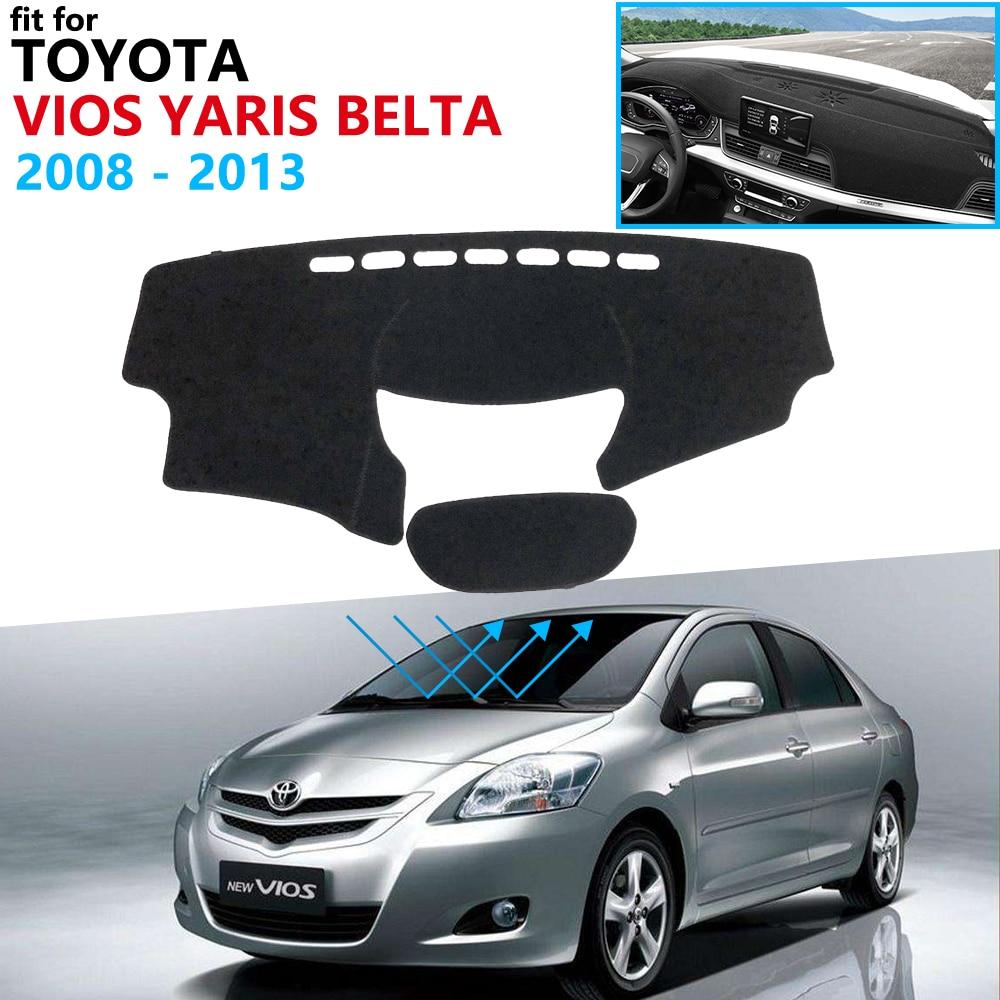 Dashboard Cover Protective Pad For Toyota Vios Yaris Belta Soluna XP90 2008~2013 Car Accessories Dash Board Sunshade Carpet 2012