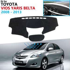 Dashboard Cover Protective Pad for Toyota Vios Yaris Belta Soluna XP90 2008~2013 Car Accessories Dash Board Sunshade Carpet 2012