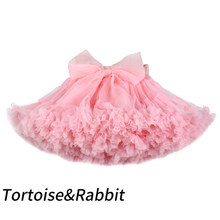 Юбка-пачка для девочек, экстра-Пушистый юбка-пачка для принцесс, мягкие фатиновые юбки для танцев для девочек, для детей 1-10 лет