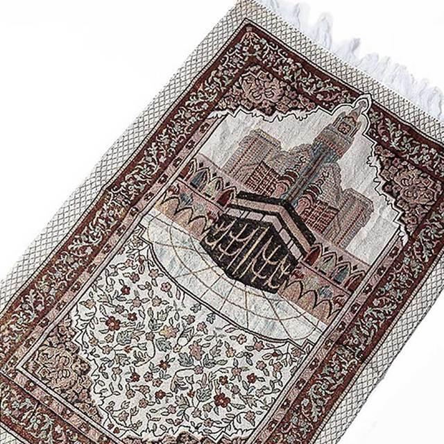 พรมพรมห้องนั่งเล่นหนาพู่ชั้น Soft บูชาเสื่อตกแต่งมุสลิมผ้าห่มสไตล์ชาติพันธุ์พรมสี่เหลี่ยมผืนผ้า