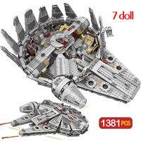1381 Pcs Force Awakens Set compatibile anniversary 79211 Falcon modello Building Blocks giocattoli per bambini bambini