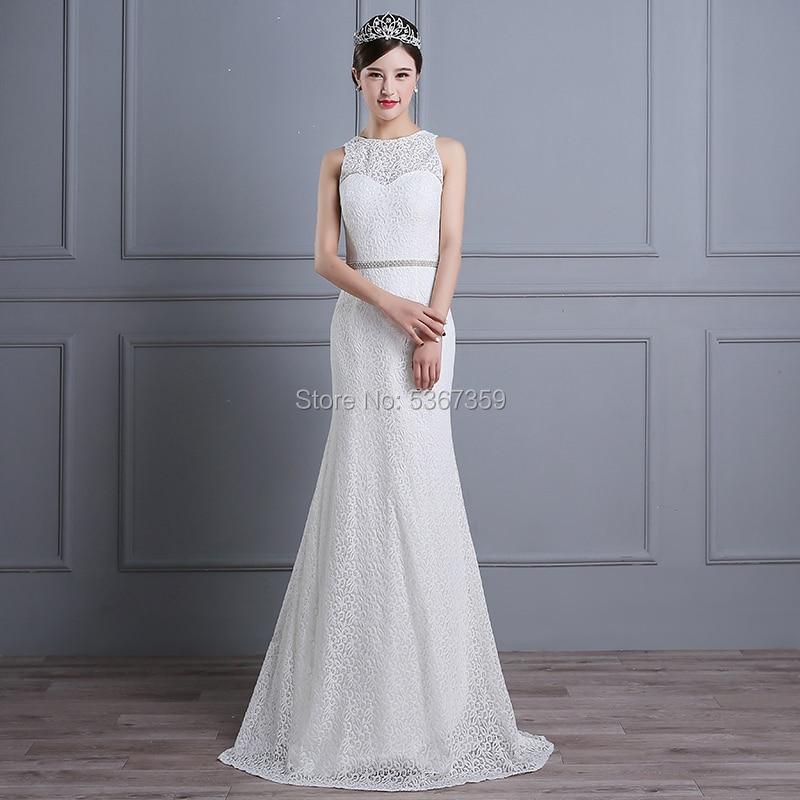 Простые кружевные свадебные платья белого цвета и цвета слоновой кости свадебное платья Vestido De Noiva с длинным шлейфом