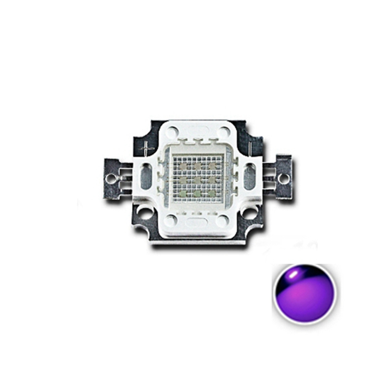 High Power 395NM <font><b>400NM</b></font> 405NM 410NM 10W UV Purple COB <font><b>LED</b></font> Bead Light DIY Ultraviolet <font><b>LED</b></font> Chip Lamp 8-11V image