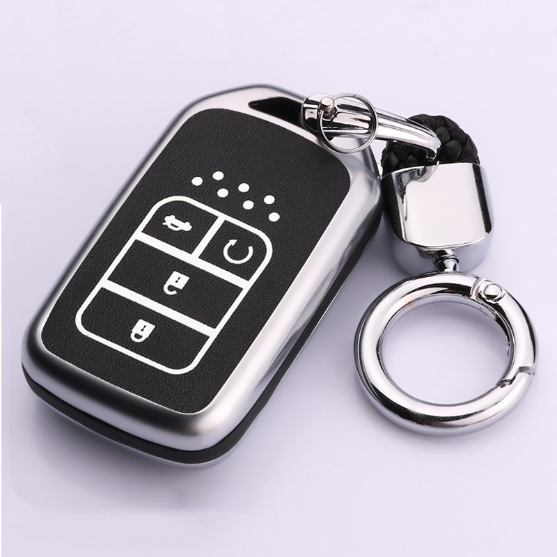High Quality Zinc alloy Car Remote Key Case Cover For Honda Civic 2017 HRV Accord Pilot CRV City Odyssey Fit Freed Vezel Jazz|Key Case for Car| |  - title=
