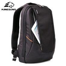 Kingsons mochila feminina preta, mochila masculina diária e escolar feita em tecido impermeável de 14 polegadas