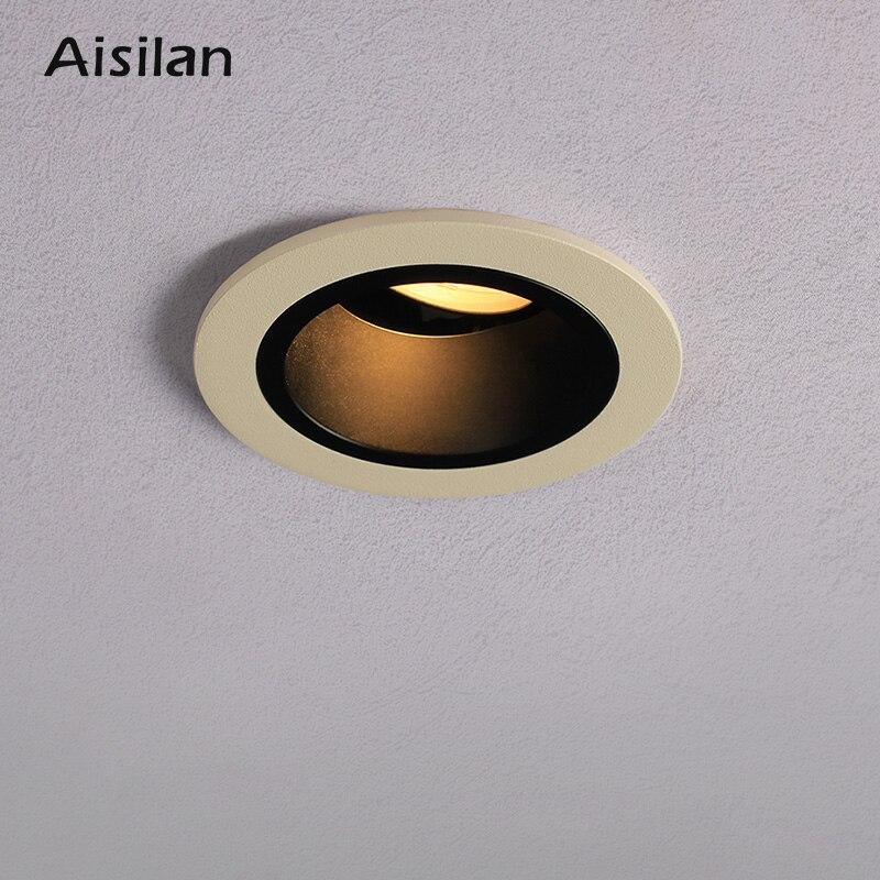 Aisilan высококлассный светодиодный светильник, встроенный светильник для гостиной, Точечный светильник, размер апертуры 7-8 см, 12 Вт, светильни...