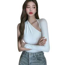Женская футболка liva girl корейские однотонные футболки топ