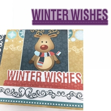 Winter Wishes Metal Cutting Dies Phrase Die Cuts For Card Making DIY Decoration New 2019 Embossed Crafts Cards