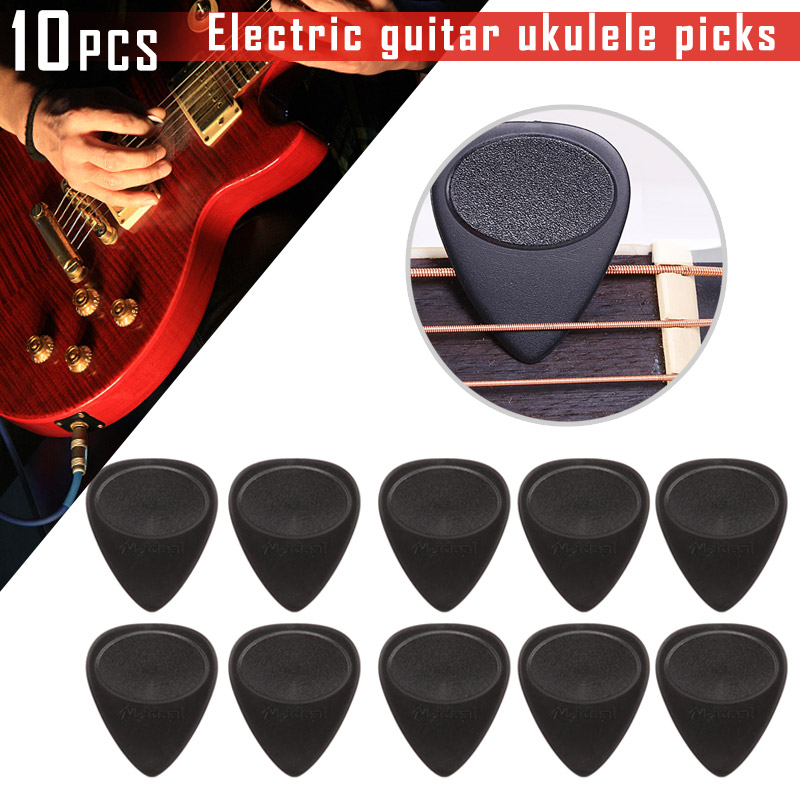 10 Pcs Guitar Pick Non-slip Black Picks 0.7mm Thickness Accessories Durable For Electric Guitar Bass Electric Guitarra Ukulele