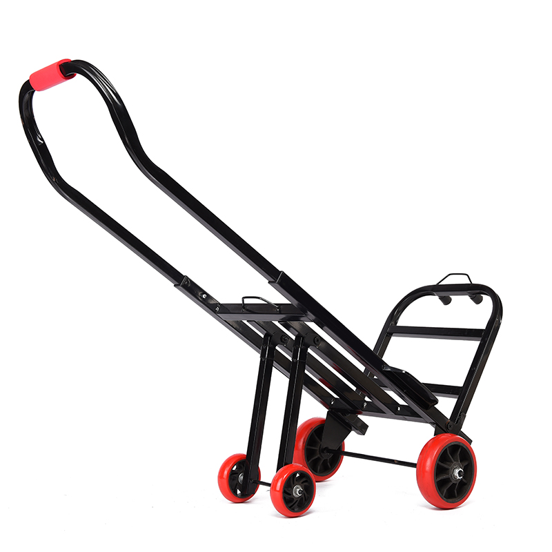 Portable Folding Collapsible Dolly, Grocery Shopping Cart, Heavy Duty Utility Wagon with 4 Rubber Wheels