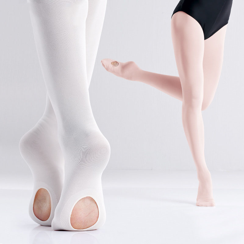 Convertible Tights Slim Dance Stockings Ballet Pantyhose Dancewear Kids Adult KJ