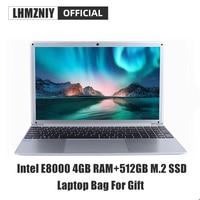 LHMZNIY RX 5 Student Laptop 15.6 Inch FHD IPS Screen Intel E8000 4GB RAM 256GB M.2 SSD Netbook 1080P Windows 10