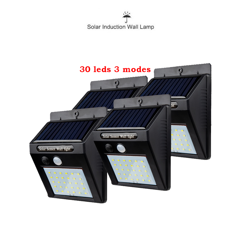 2/4PCS Solar Power PIR Motion Sensor 30 LED Solar Light Wall Light In/Outdoor Garden Security Lamp 500 LM Guirlande Lumineuse Le