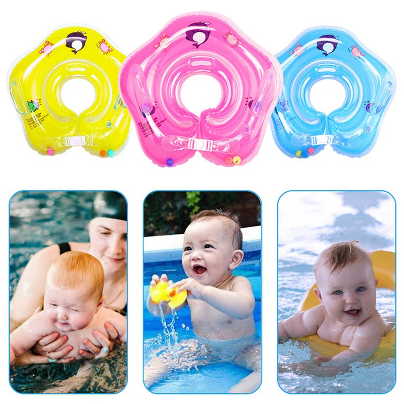 Inflatable Circle Swim Neck Ring Baby Tube Ring Safety Neck Float Circle Bathing Infant Swimming Accessories