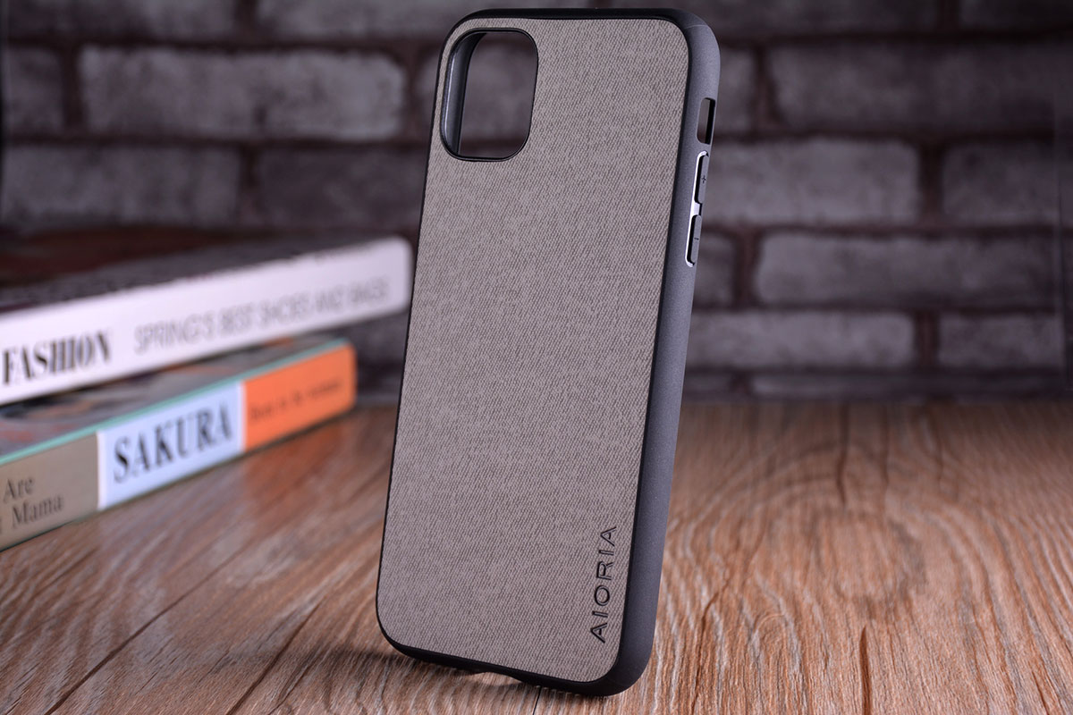Luxury Textile Leather Skin Soft TPU hard PC Phone Cover for iPhone 11 pro max 13