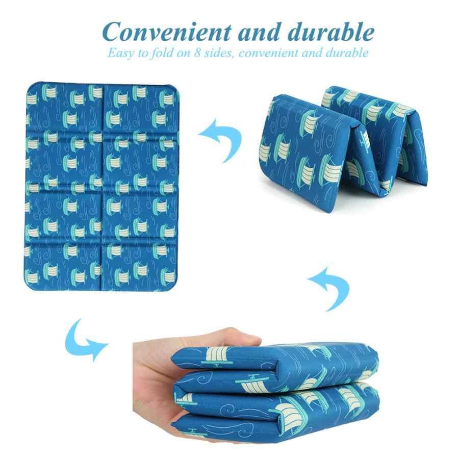 Tragbare Folding Camping Matte Feuchtigkeits Isomatte Kissen Leichte Weiche Außen Matratze Pad für Feld Park Strand