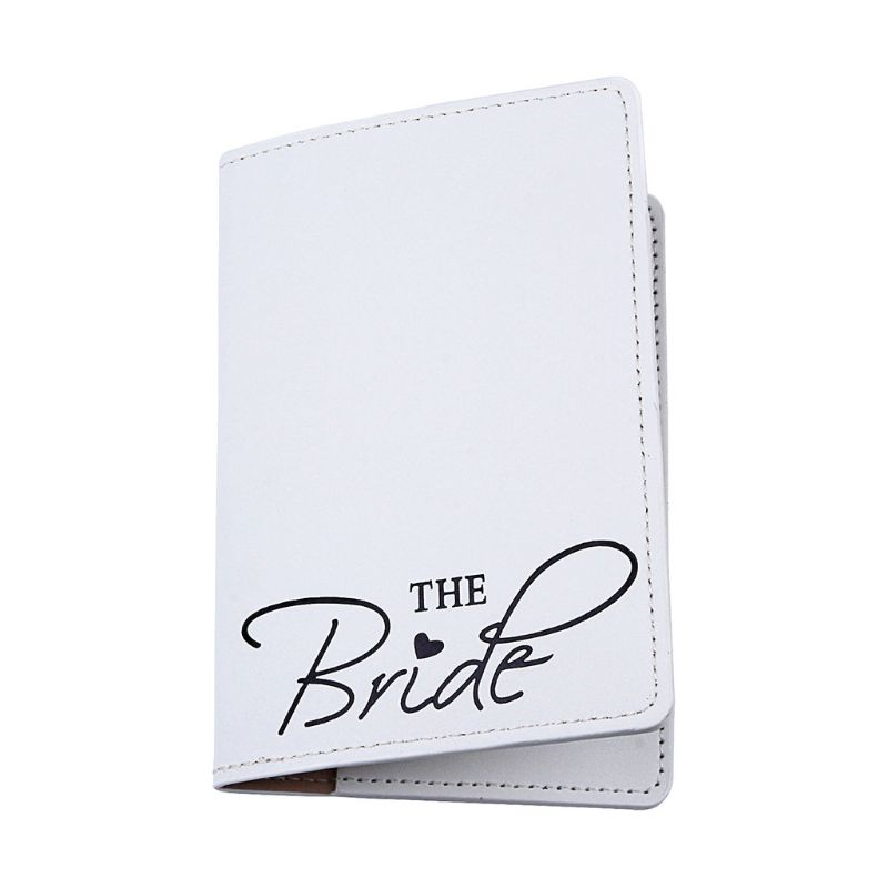 Portable Bride Groom Travel <font><b>Passport</b></font> ID Credit Card Cover Holder Case Protector Q1QA image