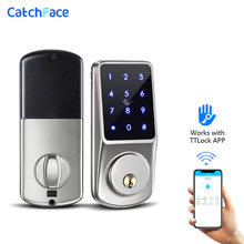 بلوتوث قفل ذكي قفل الباب الالكتروني فتح مع TTLock التطبيق النسخ الاحتياطي مفتاح قفل رقمي للمنزل مكتب شقة فندق المدرسة