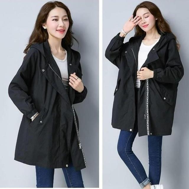 2020 Women Trench Casual loose Trench Coat oversize Vintage Cloak female Overcoats Windbreaker plus Size 4XL 5XL 2