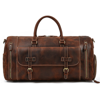 MAHEU Große Reise Duffle Tasche Aus Echtem Leder Weekender Tasche Der Männer Männlichen Vintage Stil Tragen Auf Gepäck Für Flüge Leder tasche