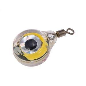 1 шт./3 шт. мини рыболовная приманка c подсветкой светодиодный глубокий капли подводная форма глаз рыболовная кальмарная рыболовная приманка светящаяся приманка для привлечения рыбы