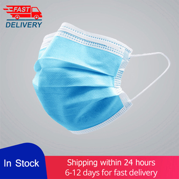【Fast delivery】 3-layer Face masks Protective Mask Mouth Non Woven Disposable Anti-Dust Meltblown cloth Earloops Masks wholesale
