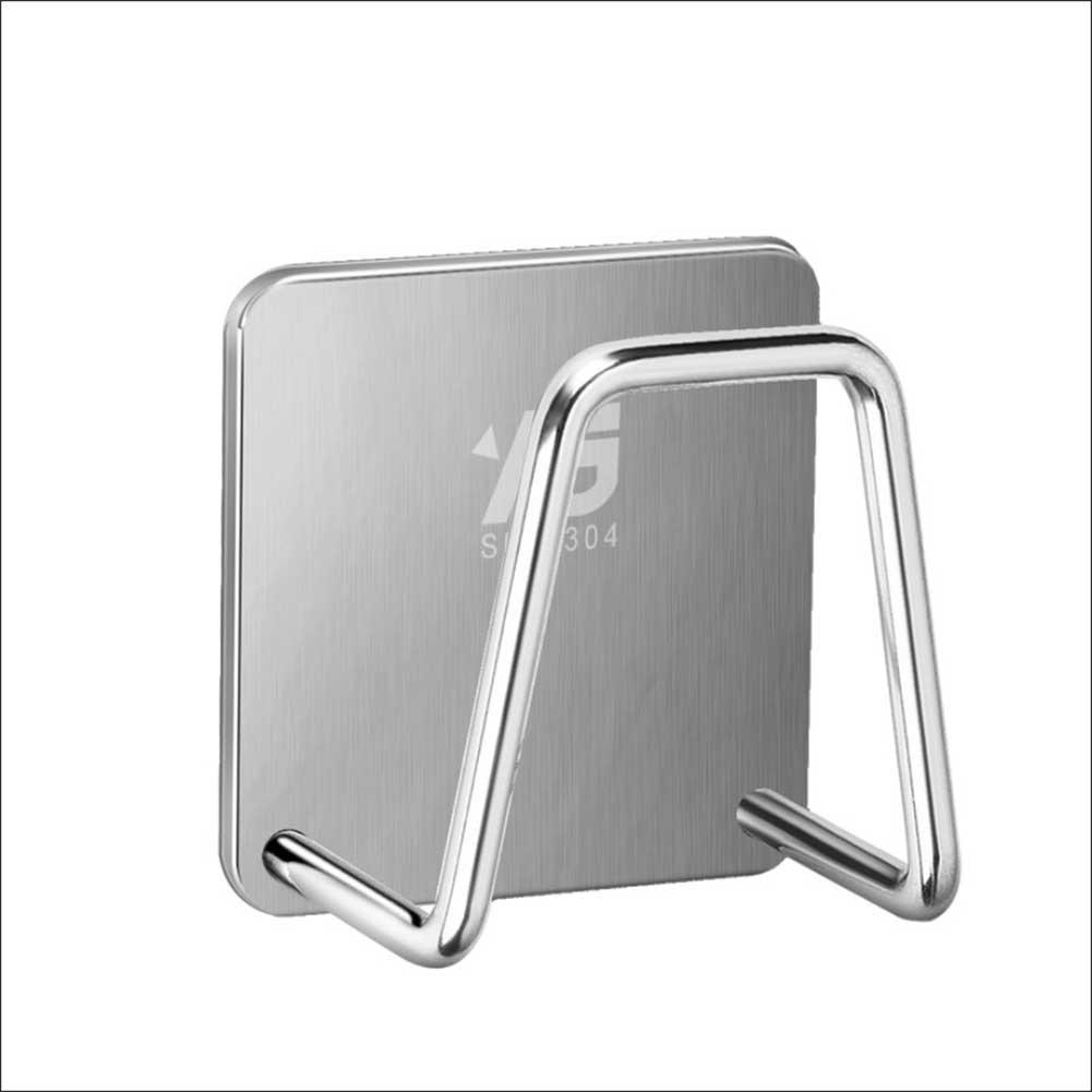Sponge Drain Holder 304 Stainless Steel Free Punching Rack Dish Cloth Hook Storage Wall Hanger For Kitchen