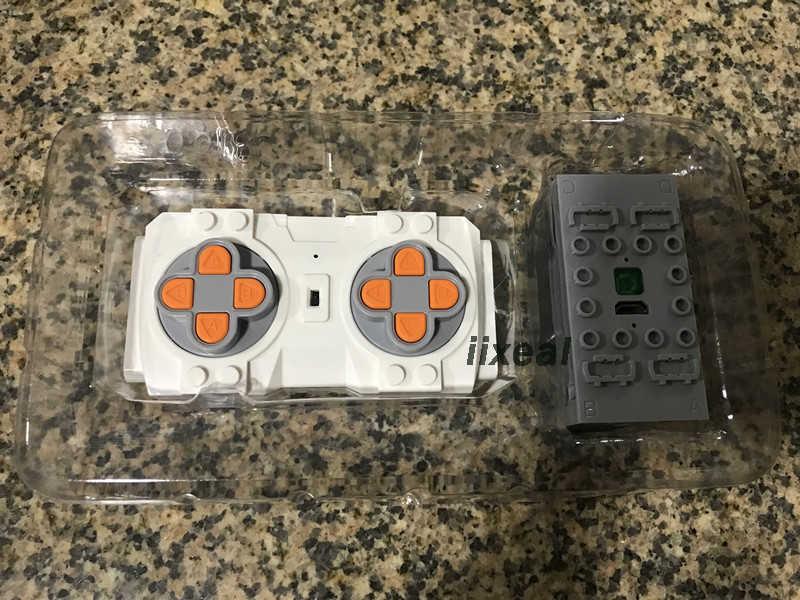 เข้ากันได้กับ Legoed Technic Motor Power ฟังก์ชั่น APP RC รีโมทคอนโทรลรถรถไฟกล่องแบตเตอรี่อาคารบล็อกอิฐของเล่นงานอดิเรก