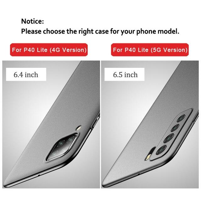 P30 Pro Case MSVII Slim Matte Coque For Huawei P30 Lite Pro Case P 30 Plus Hard PC Cover For Huawei P20 Lite P40 Pro Lite E Case 3
