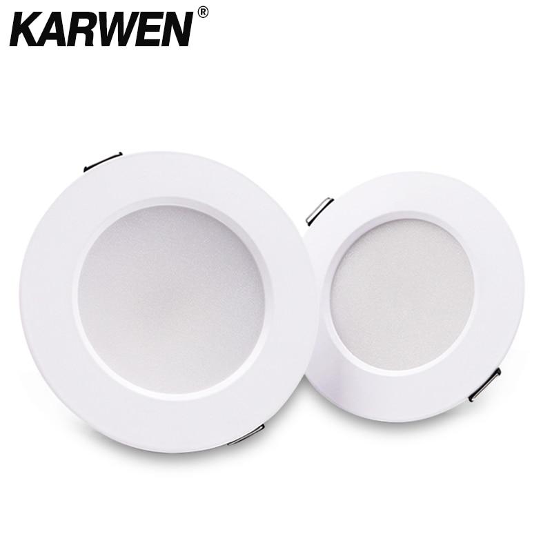 KARWEN LED Downlight 5W 7W 9W 12W 15W White Body Ceiling Light Cold Warm White Led Light AC 220V 230V 240V For Living Room