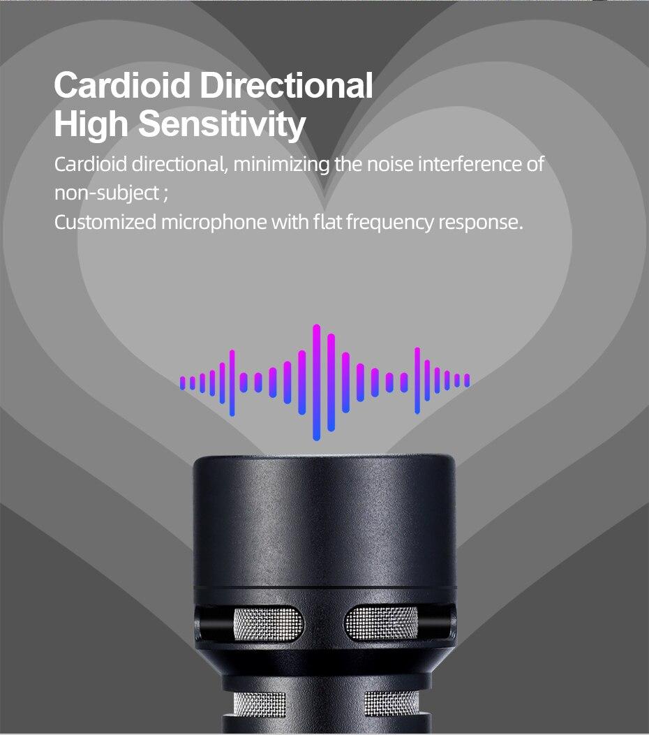 Sairen 3.5mm mini shotgun vídeo microfone gravação