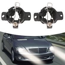 2 sztuk H1 żarówki ksenonowe HID lampa światła konwersji adaptery posiadacze podstawa dla Mercedes S320 320 żarówka samochodowa konwersja żarówka do przedniego reflektora