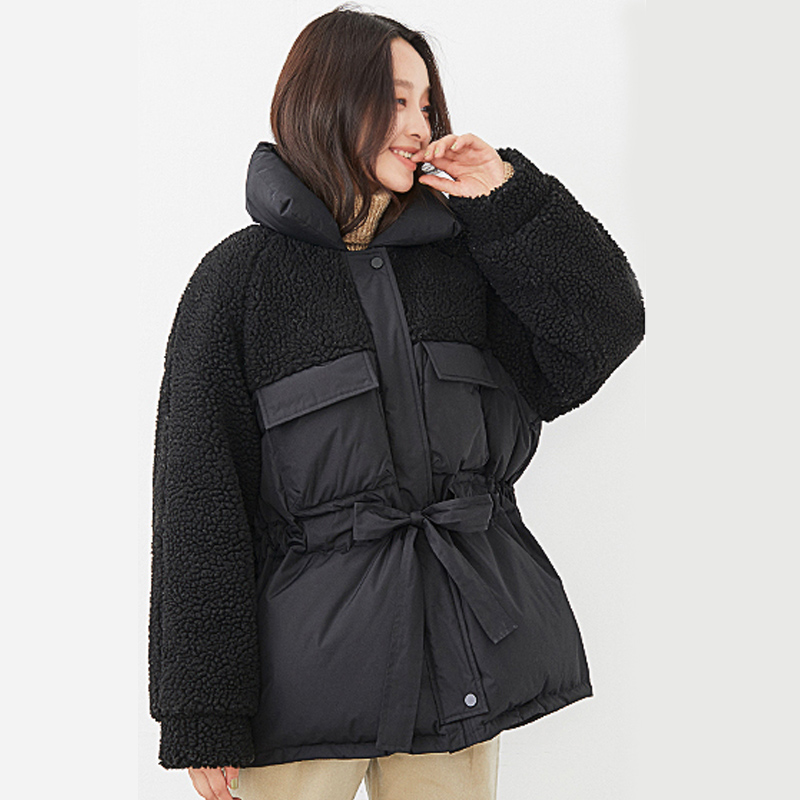 Women Winter Down Jacket 2019 Korean Style Winter Jacket Women Stand Collar Solid Female White Duck Down Collar Short Parka