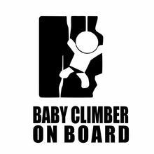 Забавный ребенок альпинист на борту автомобиля стикер Автомобили