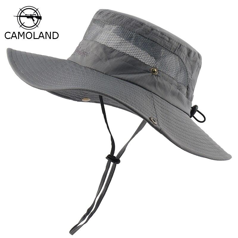 Men Women Bucket Hat Boonie Safari Hunting Fishing Hiking Wide Brim Camo Sun Cap